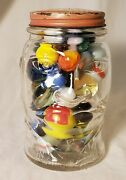 Vintage Marbles In Jolly Joe Bank As Found All Shown Alabama Pick.