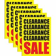 Clearance Sale Store Business Retail Display Signs 18x24 Full Color 5 Pack