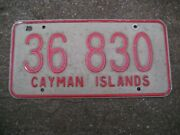 Cayman Islands Bus Or Taxi 36 830 Rare Older Type License Plate