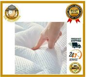 Premium Soft Mattress Pad Cover Memory Foam Pillow Top Cooling Overfilled Topper