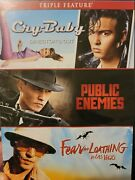 Johnny Depp Triple Feature Dvd Cry-baby/public Enemies/fear And Loathing In Las