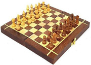 Wooden Handmade Chess Board Set With Non Magnetic Pieces Quality 12 X 12 Inch
