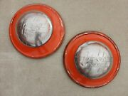 Original 1936 1937 1938 Lincoln Zephyr Hubcaps Wheelcovers Center Caps Pair Ford
