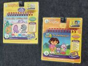 Leap Frog My First Leap Pad Lot Of 2 Games Cartridges Books New Dora Writing