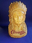 Vintage Chippewa Boots Shoe Store Display Advertising Sign Indian Bust/sculpture
