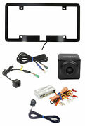 Alpine Front+rear Car Camera W/license Plate Bracket+switch Multi View Selector