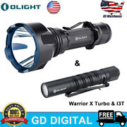 Olight Warrior X Turbo Tactical Magnetic Rechargeable Led Flashlight And I3t Torch