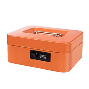 Cash Box With Money Tray And Combination Lock Metal Money Box With Cash Tray Box