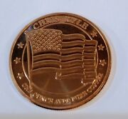 Chris Kyle Frog Foundation Copper Coin Navy Seal Sniper American Flag Mg