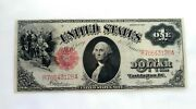 1917 United States Large Note Red Seal One Dollar Bill