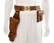 U.s. M1912 Holster Leather Officers Belt And Leather .45 Magazine Pouch