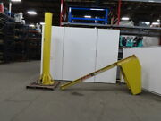Abell Howe 1/2 Ton Capacity Free Standing Jib Crane 10and039 Span 10and039 6 Under Beam