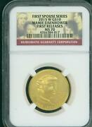2015-w 10 Gold Spouse Mamie Eisenhower Ngc Ms70 Ms-70 First Releases F.r. Fr