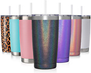 Civago 20oz Insulated Stainless Steel Tumbler Coffee Tumbler With Lid And Straw