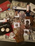 60 Grab Bag Coins And Currency
