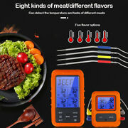 Wireless Digital Food Thermometer Lcd Bbq Grill Oven Meat Kitchenw/ Alarm