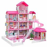Dollhouse With Dollhouse Furniture And Dolls Dream Doll House Little Girls 5year