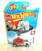 2021 Hot Wheels 164 Hw Mattel Games 1/5 Red Uno And03932 Ford 27/250