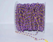 3.5mm Amethyst 925 Sterling Silver Wire Wraped Rosary Bead Chain Gift Rcs-1001