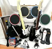 Playstation Ps4 Rock Band 4 Drums Dongle 2x Pedals Guitars Dongles + Cymbals Pro