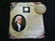 James Madison Indian Peace Medal Coin And Stamps Combination Trio Pe-032103901