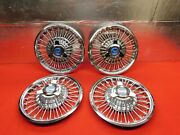 4 Used 65 66 Ford Mustang Galaxie Fairlane 14 Wheelcovers C5oz-1130-b Nice