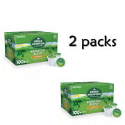 2 Pack 0f- Green Mountain Coffee Breakfast Blend K-cup Pods 100 Ct.
