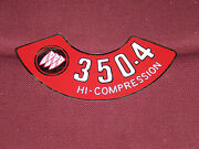 70 71 Buick 350-4 Hi Compression Air Cleaner Decal 1970 1971 Sticker