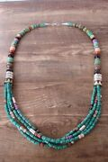 Navajo Indian Jewelry Sterling Silver Turquoise And Gemstone Necklace Tandr Singer