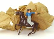 Britains Late 1940and039s Mounted Cowboy - Old/new Stock - Rare