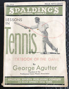 Original 1935 Spaldingand039s Lessons In Tennis Textbook Of The Game Publication 252