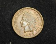 Hsandc 1893 Indian Head Penny/cent Plenty Of Mint Red Remains Bu Choice Red/brown