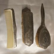 Vintage International Sterling Silver Brush And Comb