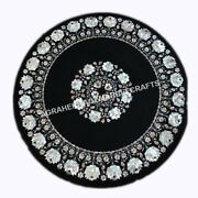 Exquisite Design Mother Of Pearl Inlay Black Marble Christmas Table Top H4348