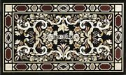 Black Marble Rectangle Dining Table Top Inlay Stone Living Room Decor H4000