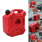 5l Portable Jerry Cans Gas Diesel Fuel Tank Pack+lock Atv Motorcycle Scooter