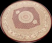 Vegetable Dye Tebriz Wool/ Silk Oriental Area Rug Hand-knotted 10and039x10and039 Round