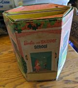 Rare Vintage Barbie And Skipper School Only 1965 Cardboard Toy Folding Playset