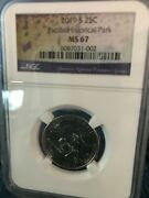 2019 S 25c Guam War In The Pacific Or Pacific Historical Park Ngc Ms 67 S Mint