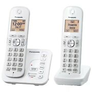Panasonic Dect 6.0 2 Handset Cordless Home Phone Call Block And Answering System