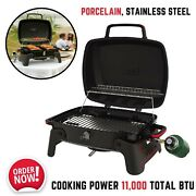 Portable Tabletop Propane Gas Grill Steel Bbq Rv Outdoor Camping Picnic Backyard