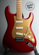 2005 Fender American Deluxe S1 Stratocaster Candy Apple Red And Hard Case