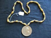 Zachary Taylor Indian Peace Medal Sinew Trade Bead Necklace Pe-032105351