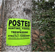 Minuteman Signs   Posted No Trespassing Sign   Durable - Premium - Flexible - Po