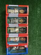 5 Vintage Collectible Series Hand-painted Bobble Head Dolls Mlb And Nfl
