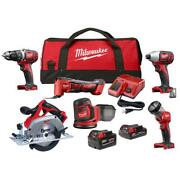 Milwaukee M18 18-volt Lithium-ion Cordless Combo Kit 6-tool With 2 M18
