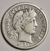 1897-o Barber Dime. About Vf. 157913