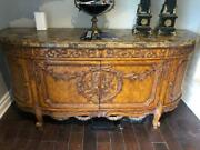 Superb Maitland-smith Sideboard/credenza/buffet-marble Top-great Condition