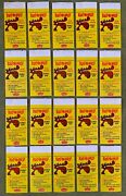 Collection 20 Different 1965 Fleer Bullwinkle Transfer Tattoo Gum Wrapper Ex+