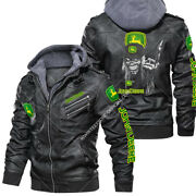 Johndeere - Faux Leather Jacket Warm Jacket Winter Outer Wear